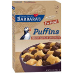 Barbara's Bakery Puffins, Peanut Butter & Chocolate (12x10.5 Oz)