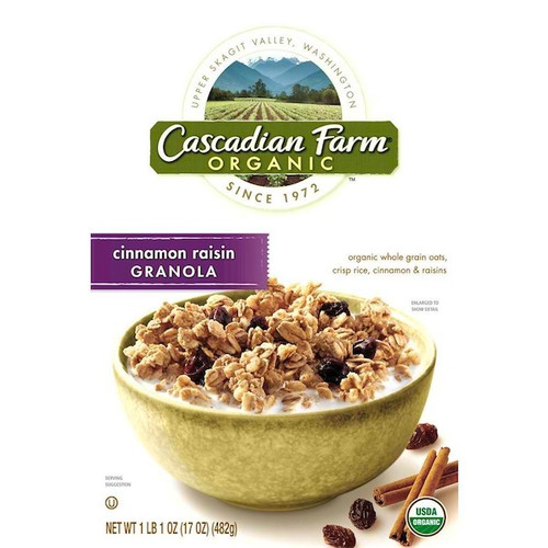 Cascadian Farm Oats & Honey Granola (6x16OZ )