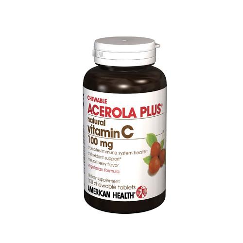 American Health Acerola Plus 100 mg (1x100 Tablets)