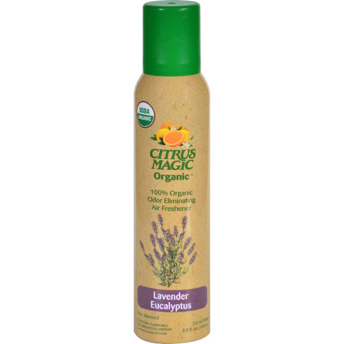 Citrus Magic Air Freshener Odor Eliminating Spray Lavender Eucalyptus 3.5 oz