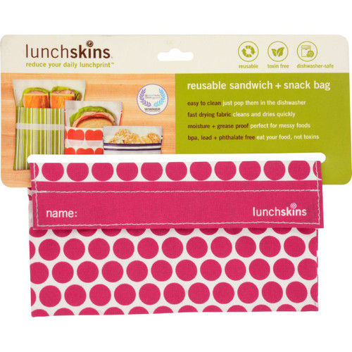 Lunchskins Bag Snack Berry Dot 1 Count