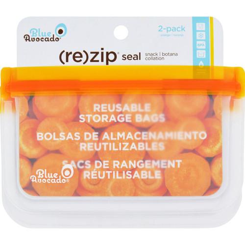 Blue Avocado Bag Re Zip Snack Orange 2 Count