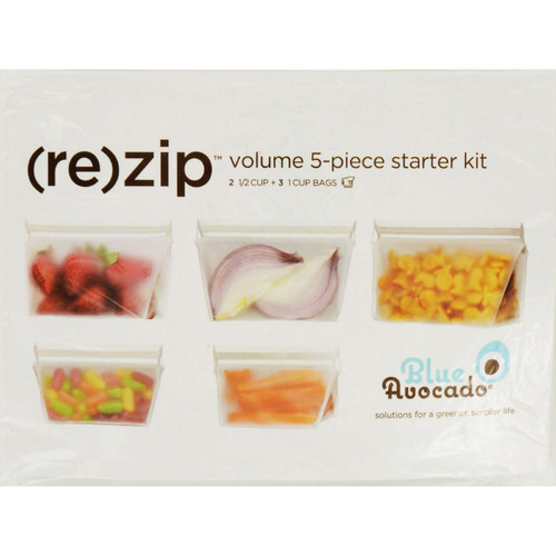 Blue Avocado Bag Re Zip Volume Starter Kit Clear 5 Pieces