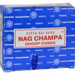 Sai Baba Nag Champa Incense Cone Case of 12 12 Packs