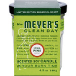 Mrs. Meyer's Soy Candle Iowa Pine Case of 6 4.9 oz Candles