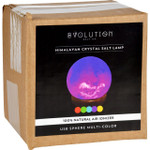 Evolution Salt Lamp USB Sphere Multi Color Changing 1 Count