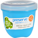 Preserve Food Storage Container Round Mini Aqua 8 oz 1 Count