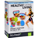 Fit and Fresh Container Set Healthy Living Smart Portion 14 Pieces 1 Set