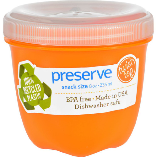 Preserve Food Storage Container Round Mini Orange 8 oz 1 Count Case of 12
