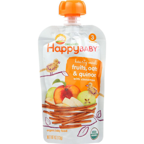 Happy Baby  Food Organic Hearty Meals Stage 3 Mama Grain Pouch 4 oz case of 16