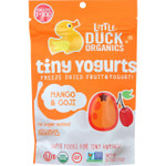 Little Duck Organics Freeze Dried Fruit and Yogurt Tiny Yogurts Organic Mango and Goji Ages 1 Year Plus .75 oz case of 6