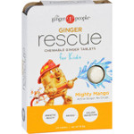Ginger People Ginger Rescue for Kids Mighty Mango 24 Chewable Tablets Case of 10