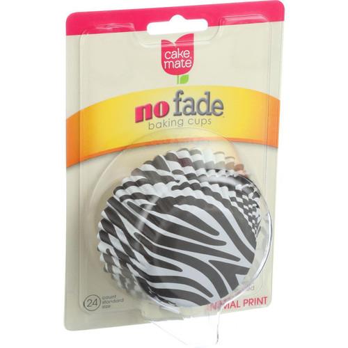 Cake Mate Cupcake Liners Zebra Animal Print 24 Count Case of 4