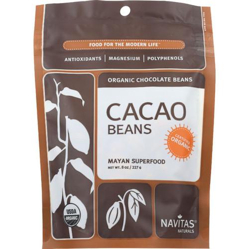 Navitas Naturals Cacao Beans Organic Raw 8 oz case of 12