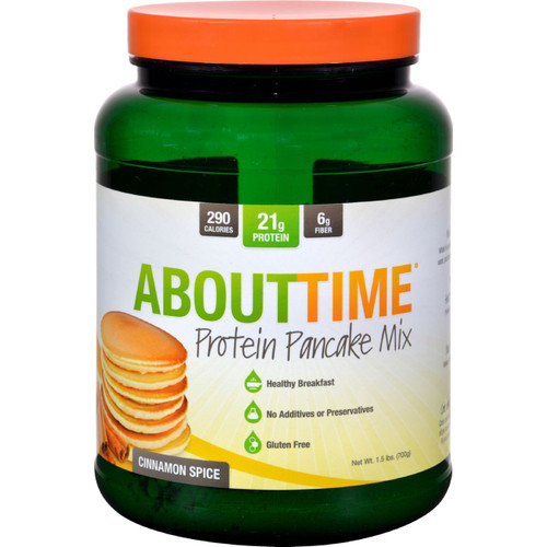 About Time Protein Pancake Mix Cinnamon Spice 1.5 lb