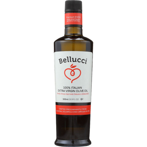 Bellucci Premium Olive Oil Extra Virgin 100 Percent Italian 500 ml case of 6