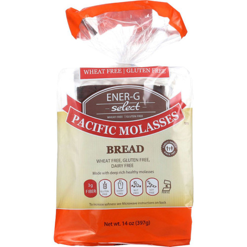 Ener G Foods Bread Select Pacific Molasses 14 oz case of 6