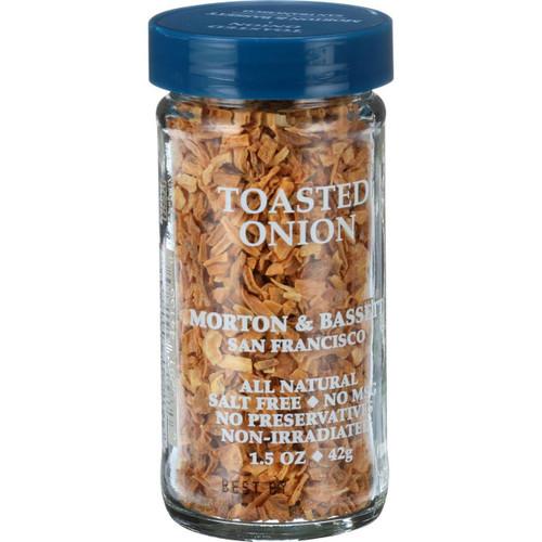 Morton and Bassett Seasoning Onion Toasted 1.5 oz Case of 3