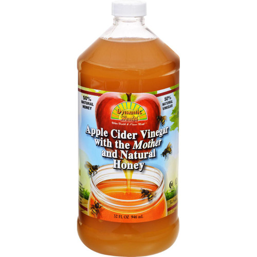 Dynamic Health Apple Cider Vinegar with the Mother and Natural Honey Plastic Bottle 32 oz