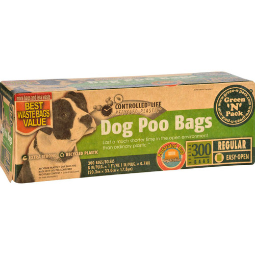 Eco Friendly Bags Green N Pack Dog Poo Bags Litter Pick Up 300 Bags 1 Count