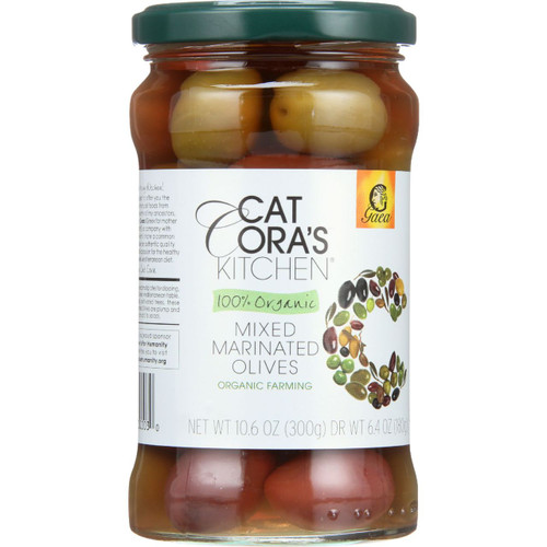 Gaea Olives Organic Mixed 6.7 oz case of 8