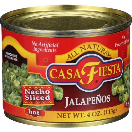 Casa Fiesta Nacho Sliced Jalapenos Hot 4 oz