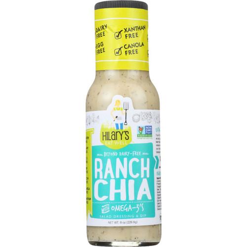 Hilarys Eat Well Dressing Ranch Chia Gluten Free 8 oz case of 6