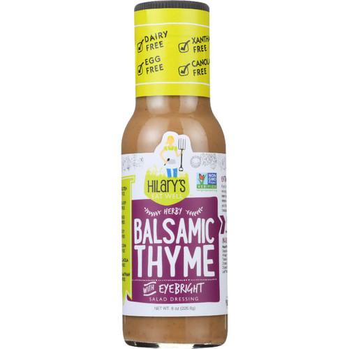 Hilarys Eat Well Dressing Balsamic Thyme Gluten Free 8 oz case of 6