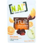 Natures Addicts Fruit and Chocolate Snacks Dark 70 Percent Cocoa Apple Orange 1.06 oz case of 30