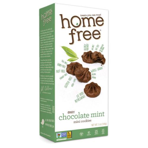 Homefree Gluten Free Chocolate Mint Mini Cookies 5 oz Case of 6