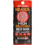 Kratos Beef Bar High Protein Zesty Pepper 1.2 oz Case of 12