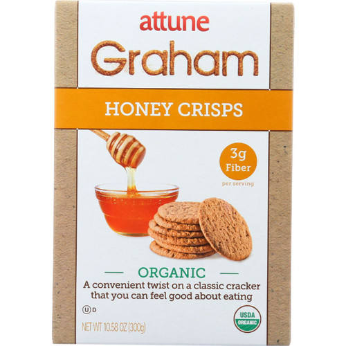 Attune Foods Graham Crisps Organic Honey 10.6 oz case of 6