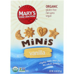 Marys Gone Crackers Cookies Organic Minis Vanilla 4.5 oz case of 6
