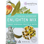 Essential Living Foods Trail Mix Organic Enlighten Sweet Nirvana Fruits and Nuts 8 oz case of 6