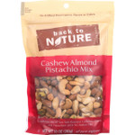Back To Nature Nuts Cashew Almond Pistachio Mix 10 oz case of 9