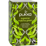 Pukka Herbal Teas Tea Organic Green Supreme Matcha 20 Bags Case of 6