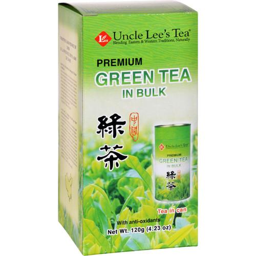 Uncle Lees Tea Green Premium In Bulk Loose 4.23 oz Case of 6