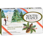 South of France Bar Soap Limited Edition Holiday Frosted Evergreen 3.5 oz Case of 6