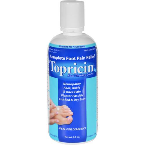 Topricin Foot Therapy Cream 8 oz