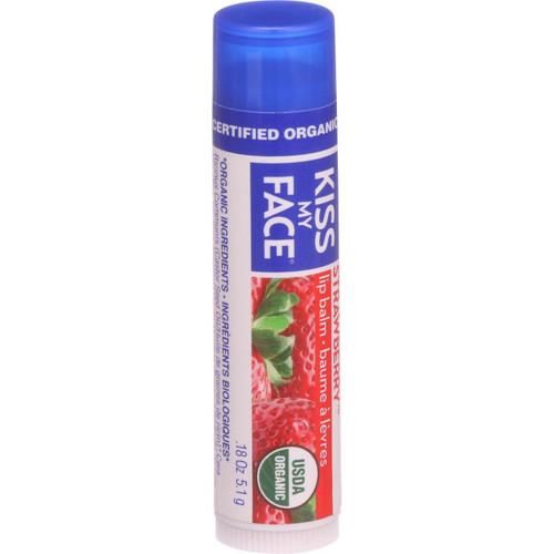 Kiss My Face Organic Lip Balm Strawberry .18 oz Case of 24