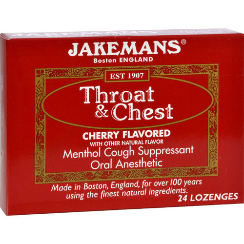 Jakemans Throat and Chest Lozenges Cherry 24 Pack