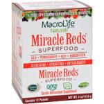MacroLife Naturals Miracle Reds Antioxidant Super Food 12 Packets of .33 oz