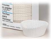 Ateco White Baking Cup 1 Inch