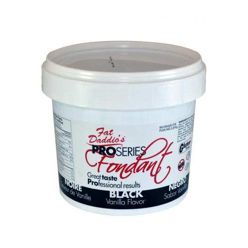 Fat Daddio's Fondant 2 lbs bucket black
