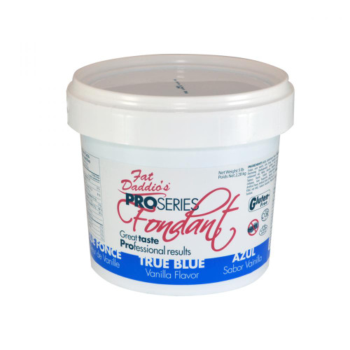 Fat Daddio's Fondant 2 lbs bucket blue