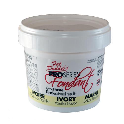 Fat Daddio's Fondant 8oz bucket Ivory
