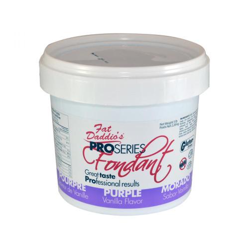 Fat Daddio's Fondant 5 lb bucket Purple