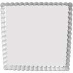"""Fat Daddio's Square Fluted Tart Pan, 12"""" x 12"""" x 1"""", removable bottom"""