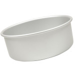 "Fat Daddio's Round cake pan solid bottom 4""x4"""