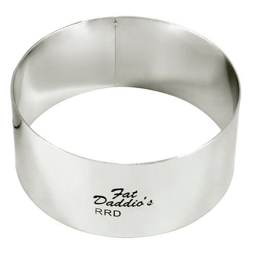 "Fat Daddio's Rings round stainless steel 2 1/2"" x 2"""